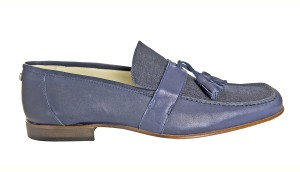Suede Loafer, Navy